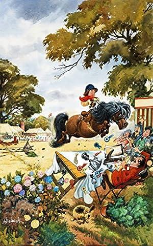 Thelwell bedruckt Premium Cotton Fun Pferd oder Pony Mottoparty Geschirrtuch. Ein tolles Geschenk für Horsey Menschen. Funktionen Iconic Bild von Thelwell