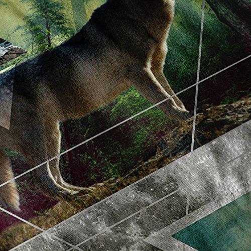 Wolf Wild Geist Mode Natur Schönheit Damen S-2XL Muskelshirt | Wellcoda Grau