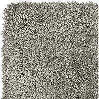 Home Life Alfombra con Diseño Super Shaggy, Polipropileno, Gris, 60 x 110 cm