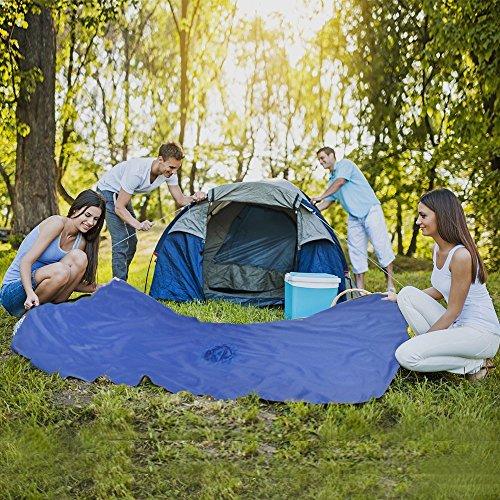 Ponchos Imperméables, 3 en 1 Poncho de pluie/Tapis de Tente/Couverture de Pique-Niques Pour Camping Randonnée Cyclisme Activité En Plein Air -Adulte unisexe bleu