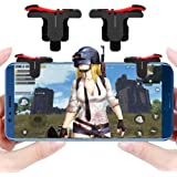 BKN® BuyKarNow Mobile Phone Gamepad Gaming Trigger for pubg ROS Fire Shooter Controller Button Aim Key L1 R1 (Red)
