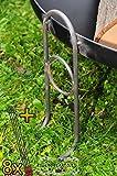 ÖLBAUM MASSIV Premium-Feuerschale ca. 60 cm (Feuerschalen von 50-100 cm) cm Gross Set inklusive 8 Grillspiessen Wurstspiesse Grillbesteck