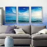 ZZZSYZXL 3pcs pittura di paesaggio soggiorno divano contesto ristorante letto pittura decorativa , a