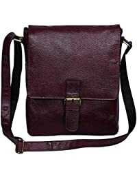 Woodons Premium Unisex Leather Sling Bag (Purple)