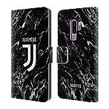 Officiel Juventus Football Club Noir 2017/18 Marbre Étui Coque De Livre en Cuir pour Samsung Galaxy S9+ / S9 Plus