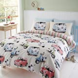 Automobile Bed set, featuring Campervans, Scooters & classic Minis (Double) Duvet cover & Pillow case set