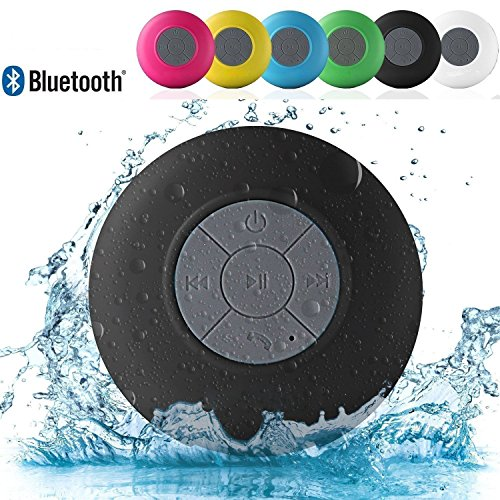 VOLTAC Water Proof Bluetooth Shower Speaker, Portable Wireless, Kid-Friendly, Call Support - Best for Bath, Pool, Car, Beach, Indoor/Outdoor Use - (Colors May Vary) Model 420909