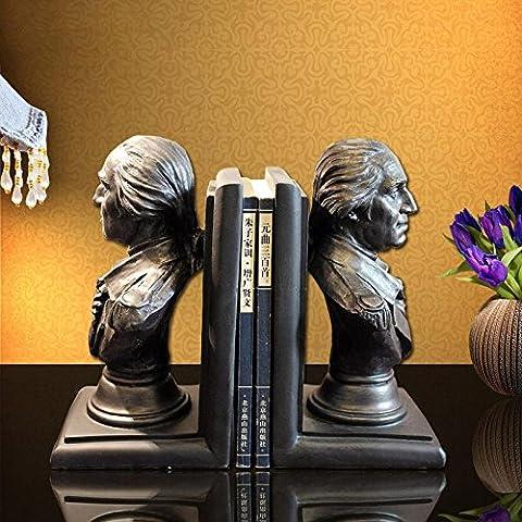 Du lijun 2016 Regalo creativo decoración adornos resina mesa Washington jefe sujetalibros , 26*11*24
