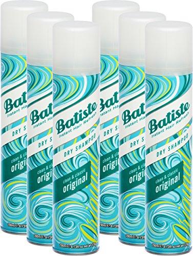Batiste Trockenshampoo Dry Shampoo Clean & Classic Original, Frisches Haar für alle Haartypen, 6er Pack (6 x 200 ml)
