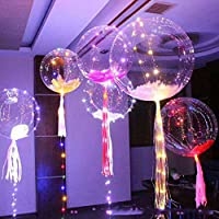 MKT 18 inch LED Light Balloons Flashing Colourful 3M String great for Parties Celebrations Decorations