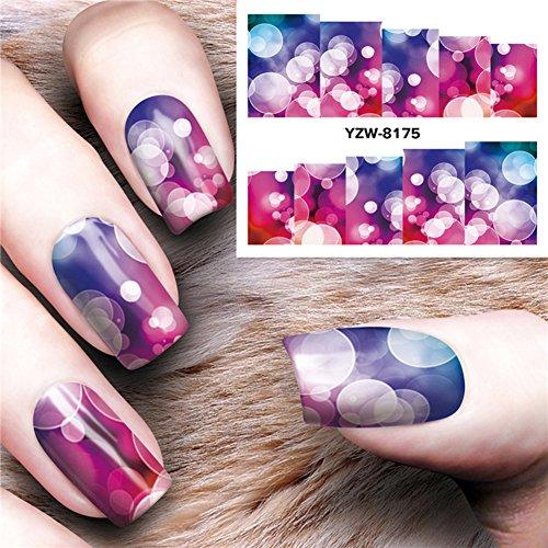 Gespout 10PCS Nail Art Autocollant Water Deco Nail Art Lot Stickers Pour Ongles Nail Outils Artistiques Différents Modèles Style 6