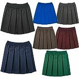 Uniforme escolar Niñas Verano Formal vestido parte inferior completo elástico caja plisado falda sólo uniforme®