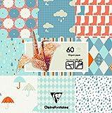 Clairefontaine 60Bogen Regen Origami Pack, Mehrfarbig, 15x 15cm