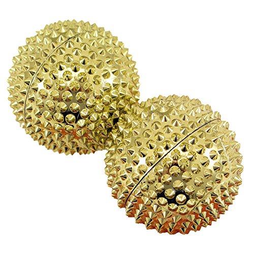 Magnet Akupunktur Massage Kugeln, 2 Stück gold groß