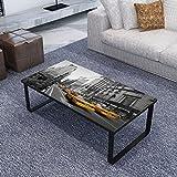 vidaXL Couchtisch Beistelltisch Sofatisch Loungetisch mit Glasplatte Rechteckig