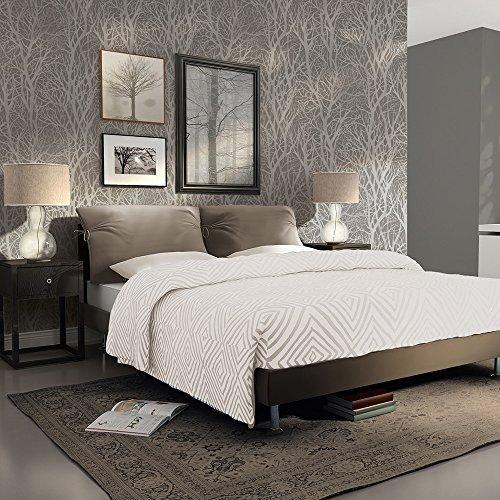 Grey Metallic Wallpaper: Amazon.co.uk