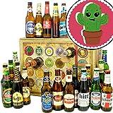 Kaktus | Bieradventskalender mit Bieren aus aller Welt | Biergeschenke | Kaktus zum Geburtstag | INKL gratis Bierbuch