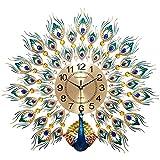 Juli Wanduhr 24 Zoll Pfau Wand Uhr Wohnzimmer europäischen kreative Uhren Haushalt Atmosphäre stumm Uhr Moderne dekorative Wanduhr chinesischen Stil (Farbe : C)