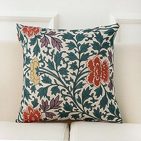 zzyhome-creative sofá cojín manta almohada decoración del hogar oficina y coche decorativo funda de almohada, chino, campana chino patrón Serie H (45x 45cm)