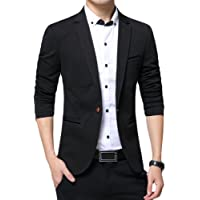 Allthemen Mens Casual Blazer Slim Fit 1 Button Formal Business Suit Jackets Single Breasted Wedding Tuxedo Smart Blazer
