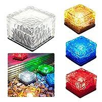 SOOJET GL71 Solar Garten Leuchte Deko Glaswürfel mit Solar-Panel und LED Farbwechsler aus Kunststoff für die Dekoration im Garten
