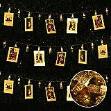Le luci a forma di LED della foto, Suniness 7,2 ft Luce stellata USB alimentata con 20 clip di foto per la festa di cerimonia nuziale del Bedroon Le luci dell'interno o all'esterno di natale di natale