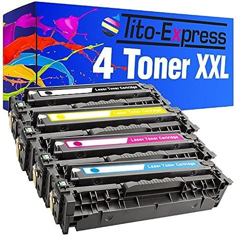 4x calidad de Express platinumserie tóner XXL compatible con HP CC530A CC531A CC532A CC533A XL