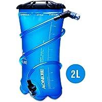 AONIJIE 1.5L/2L/3L Faltbares TPU Wasserbeutel Trinkblase Trinkbeutel mit Schlauch und Mundstück für Marathon Running Wandern