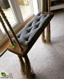 #5: AD Planet Outdoor/Indoor Wooden Hanging Swing comfertable seat/Balcony Tree Jhula with Melamine Coating for Home and Garden. Cloth