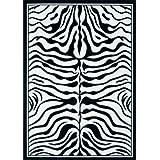 Lalee 347077960 Contempo 450 - Alfombra (120 x 170 cm), color negro y blanco