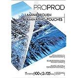 PROPROD Premium Pack de 100 Pochettes de plastification A4 125 microns finition brillante Transparent