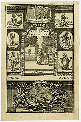 Antique Print-RELIGION-JULY-SAINTS-Harrewijn-ca. 1700