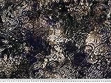 ab 1m: Baumwoll-Jersey, Paisley, blau-violett, 165cm breit