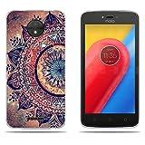 "DIKAS Motorola Moto C 2017 XT1750 XT1754 Case, Fantasy 3D Emboss Pattern TPU Soft Case Rubber Silicone Skin Cover for Motorola Moto C 2017 XT1750 XT1754 (5.0"")- Pic: 01"