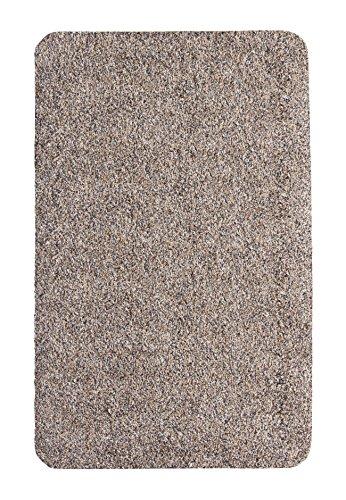 andiamo 700600 Schmutzfangmatte Samson / Waschbare Türmatte aus Baumwolle in Granit für den Innenbereich / 1 x Fußmatte (40 x 60 cm)