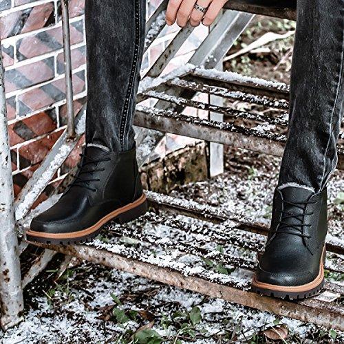 Zapatos Casuales De Otoño E Invierno Para Hombres Zapatos Altos Para Ayudar A Más Zapatos De Terciopelo Cálido Hombres Zapatos Negro