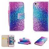 Nancen Apple iPhone 5/5S/SE (4 Zoll) Hülle, Magnetverschluss Standfunktion Brieftasche und Karten Slot, Taschen & Schalen