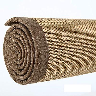 JIAJUAN Fibra Natural Japonés Tradicional Bambú Antideslizante Piso Alfombras Estera Interior Casa Salon Sala Habitación Zona Alfombra