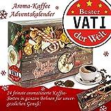 Geschenke für Vati | Weihnachtskalender mit Aromakaffee | ganze Bohnen in 24 Türchen | weihnachtlich verpackt mit ganzen Bohnen