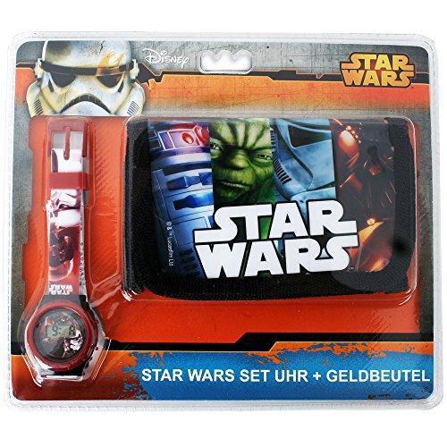 Disney Frozen Star Wars Motivo Set De Regalo Niños Monedero Cartera y digital Pulsera - Star Wars