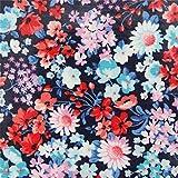 Robert Kaufman Marineblaues Wachstuch mit Kleinen Blumen
