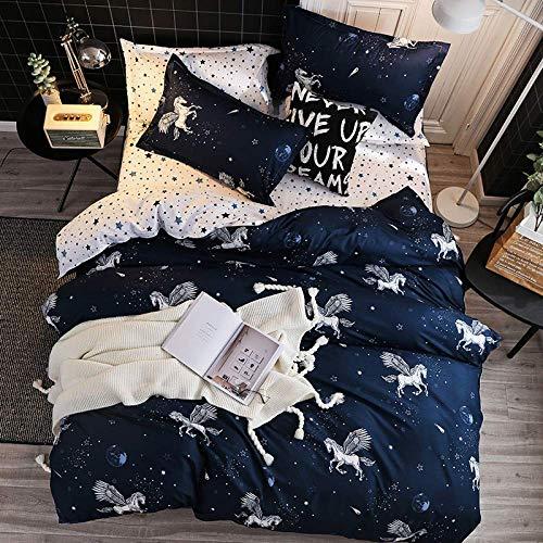 ZXL 4-teiliges Bett 4 Sätze Bettwäschesätze in voller Größe Bettdecke Bettwäschesätze Laken Kissenbezug Bettbezug-Sets, groß, 200 * 230 cm (In Größe Voller Bettdecken)