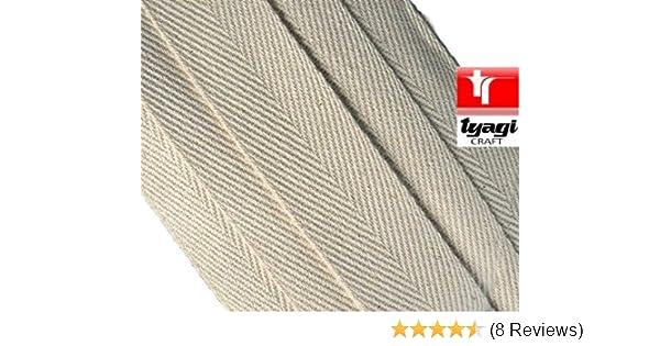 50mm 10 Meters Webbing Tape Nylon Black Herringbone weave straps strapping UK