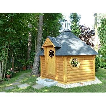 Komplett zusammengebautes Saunafass f/ür 2-4 Personen Rentoa Wellness Gartensauna mit Holz-Ofen 2 m L/änge Finnische Outdoor Fasssauna f/ür Garten