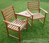 Dimensioni (cm): vedi l' immagine guardate questo super Value in legno da giardino, compagno di banco realizzati in legno in legno tropicale. Questa bellissima panchina è ampiamente dimensionato per sedile due persone e fa un regalo ideale per gli a...