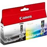 Canon PGI35/CL36 Pack de 2 Cartouches d'encre d'origine Noir/Couleur