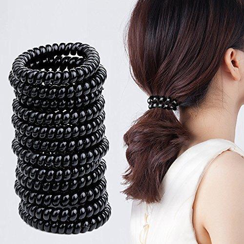 Elastici per capelli invisibobble, meersee 20 pezzi grande elasticizzato elastico per capelli bande corda di ponytail fermacoda per capelli spessi pesanti e ricci