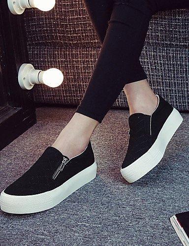 Shangyi Gyht Chaussures Femme - Mocassins / Sans Lacets - Loisirs / Décontracté - Confortable / Bout Arrondi - Plat - Corde - Noir / Blanc / Gris Gris