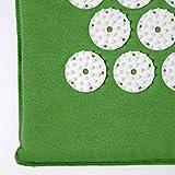 Akupressur-Set »Bikash« Matte + Kissen / Akupressur- und Massagematte (Yantra-Matte) zur effektiven Entspannung und Meditation / in verschiedenen fröhlichen Farben erhältlich / grün -
