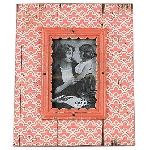Just Contempo Cadre photo en bois _ P, Bois dense, Moroccan Pink Frame, 4 x 6 inches